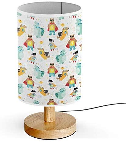 ARTSYLAMP - Wood Base Decoration Desk Table Bedside Light Lamp .