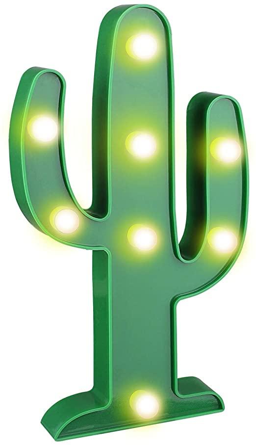 Amazon.com: YiaMia LED Cactus Light Cute Night Table Lamp Light .