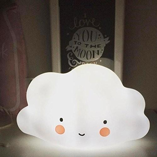 Culater® Cute White Cloud Shape Night Light For Kids Room Light .
