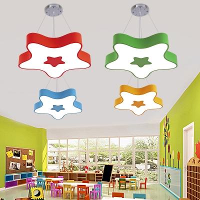 Cute Star Hanging Ceiling Lamp Kindergarten Kids Room Acrylic .