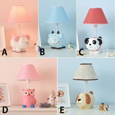 Coolie 1 Light Reading Light with Cute Animal Resin Base Baby Kids .