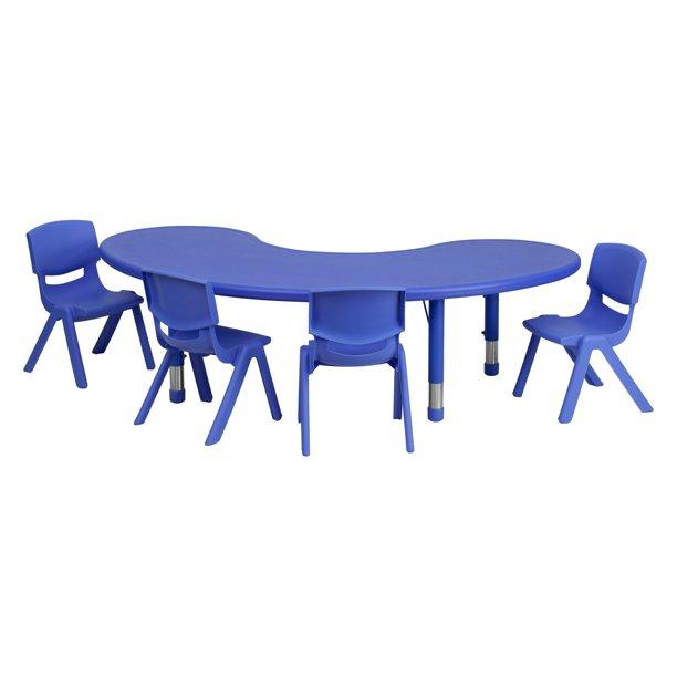 Flash Furniture 35''W x 65''L Adjustable Half-Moon Plastic .