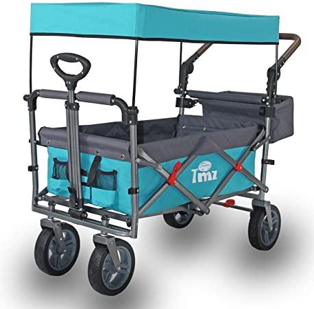 Amazon.com : TMZ Utility Folding Wagon with Canopy, Collapsible .