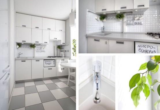 Cute White Kitchen Design With Smart Storage Solutions - DigsDi