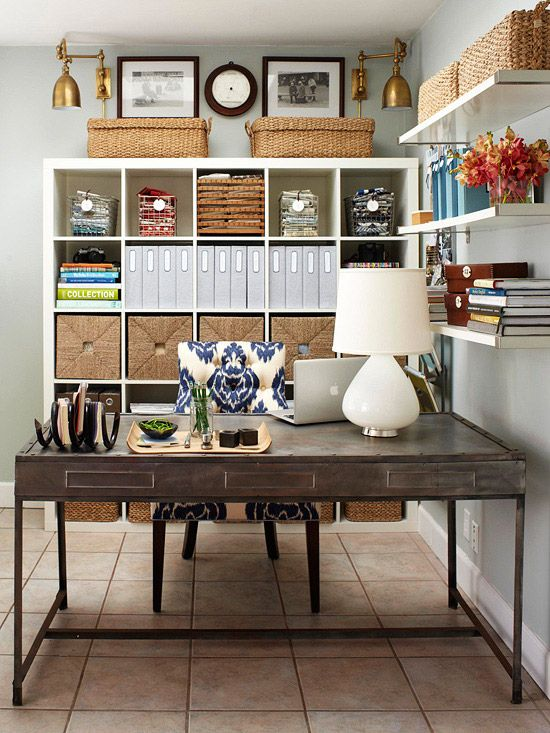 19 Smart Storage Solutions for Your Home Office   Home office .