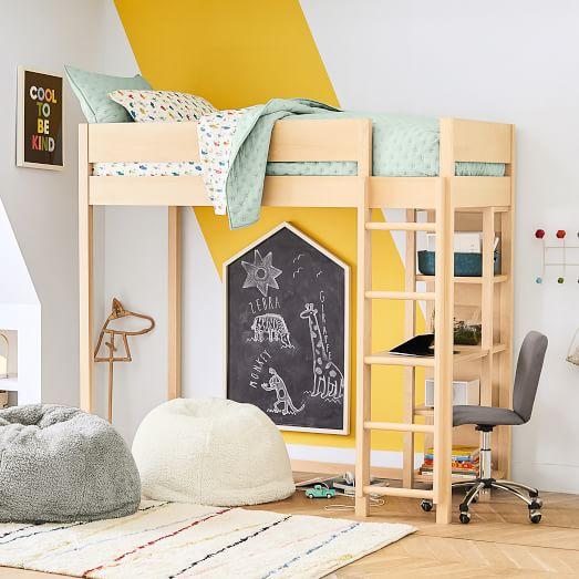 Nash Loft Bed w/ Desk - Natur