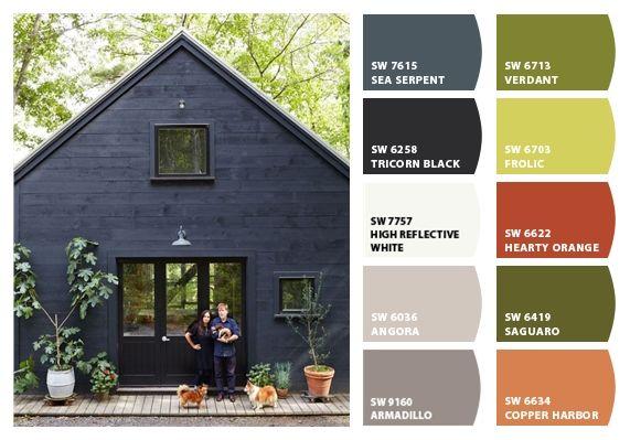 dark exterior paint colors~   Exterior house paint color .