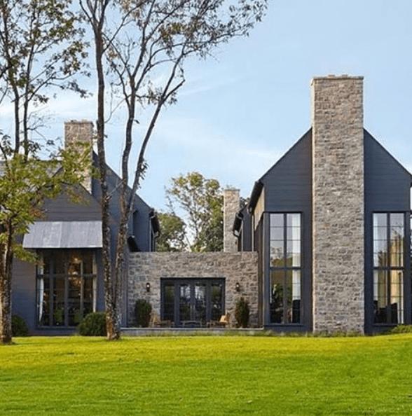10 Striking Dark Home Exteriors [New Trend] - Lindsay Hill Interio