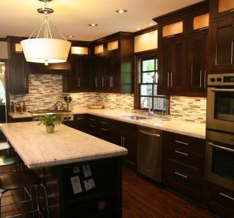 Mission Style Solid Oak Kitchen Cabinets   Mission style kitchen .