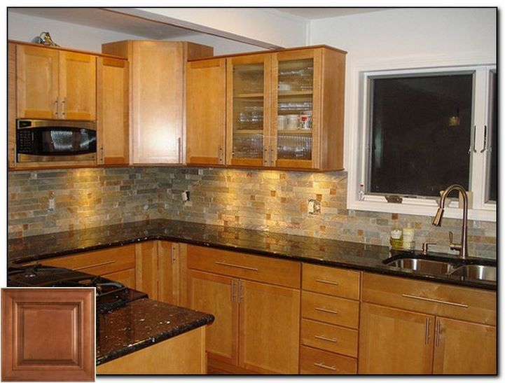 Tips for finding - kitchen with oak cabinets and gray walls .