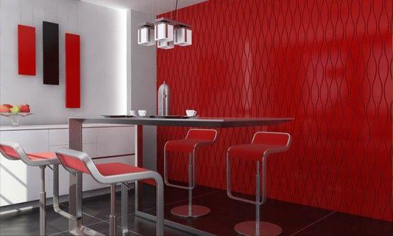 Decorative Wall Panels by Tecpanels | Decor, Red interior design .