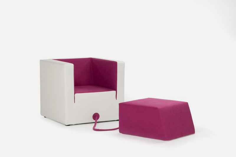 Unusual Armchair that Attached to the Footrest by a Rope – Decube .
