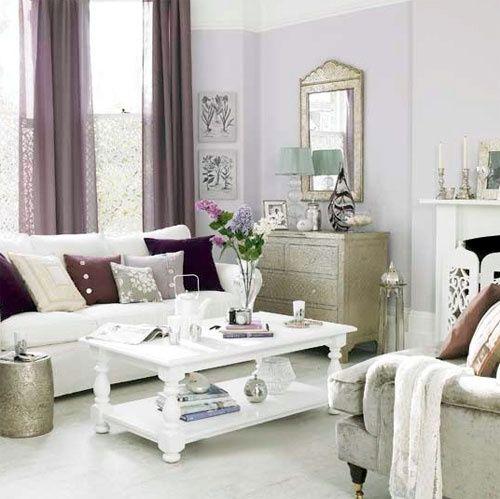 39 Delicate Home Décor Ideas With Lavender Color | Purple living .