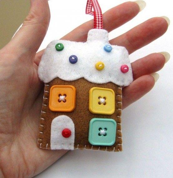 Delicious Gingerbread Christmas Home Decorations   Felt christmas .