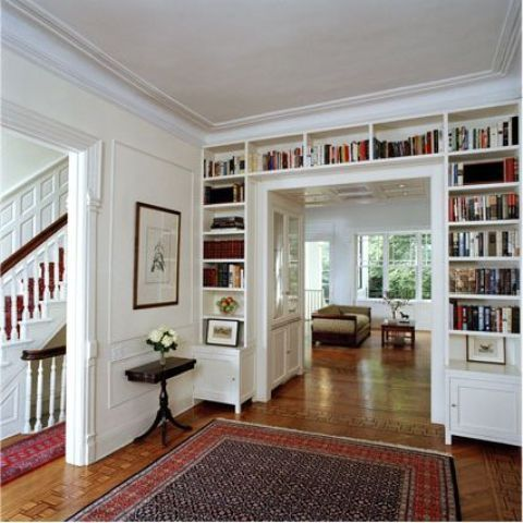 27 Doorway Wall Storage Solutions For Small Spaces | Home library .