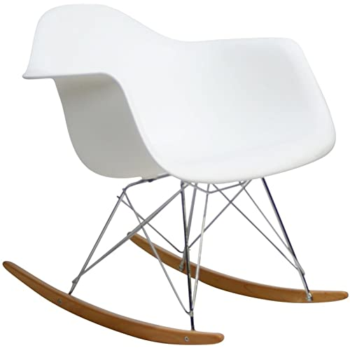 Amazon.com: Modway MO-EEI-147-WHI Rocker Plastic Lounge Chair .