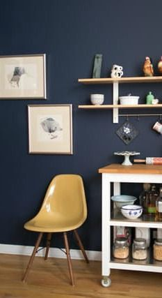 The Best Paint Colors: 10 Behr Dramatic Darks | Honey oak cabinets .