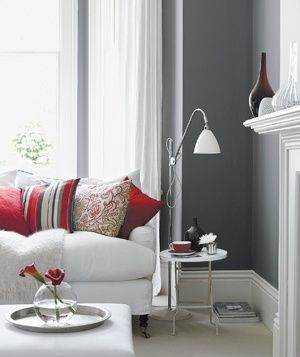 Decorating With Gray | Living room red, Living room grey .