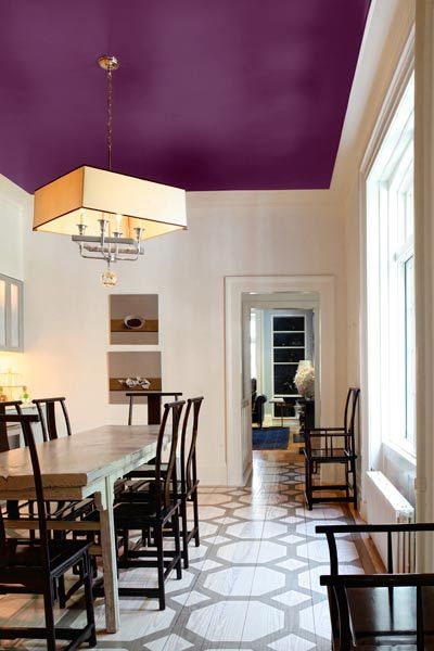Reinvent a Room by Painting the Ceiling With Color | Home, Colored .