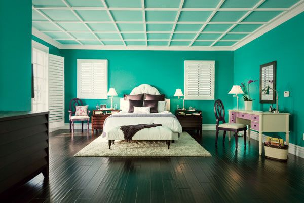 Teal Bedroom Makes a Dramatic and Colorful Statement | Bright .