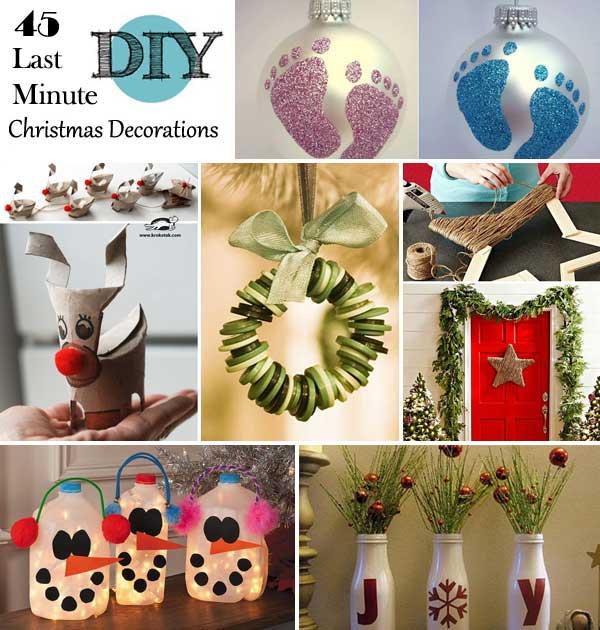 45 Budget-Friendly Last Minute DIY Christmas Decorations - Amazing .