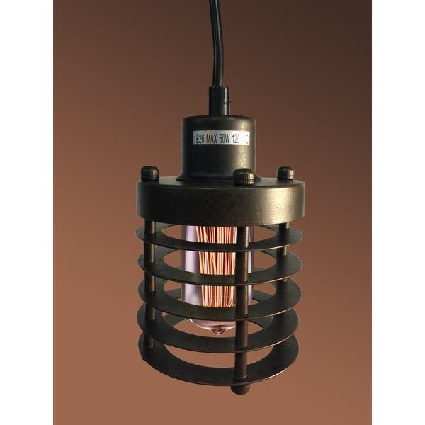 Shop Bailey 1-light Black 4-inch Edison Pendant Lamp with Bulb .