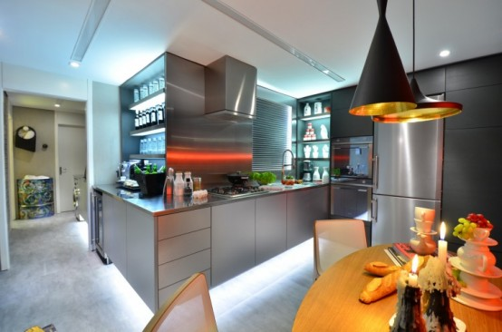 Eccentric Live-In Kitchen Design With Eclectic Details - DigsDi