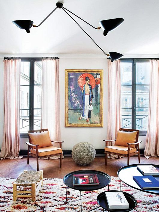 a perfectly eclectic paris apartment. | sfgirlbybay | Modern .