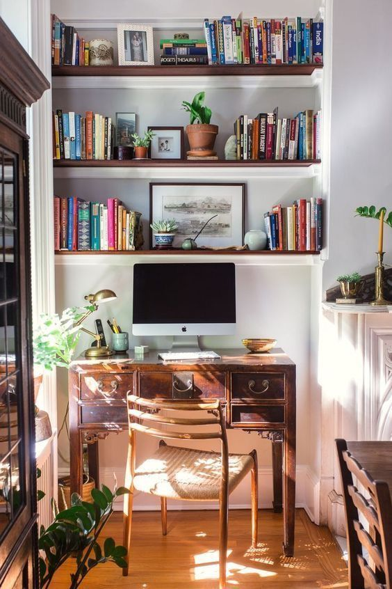 eclectic home office   Small home offices, Home office decor, Home .