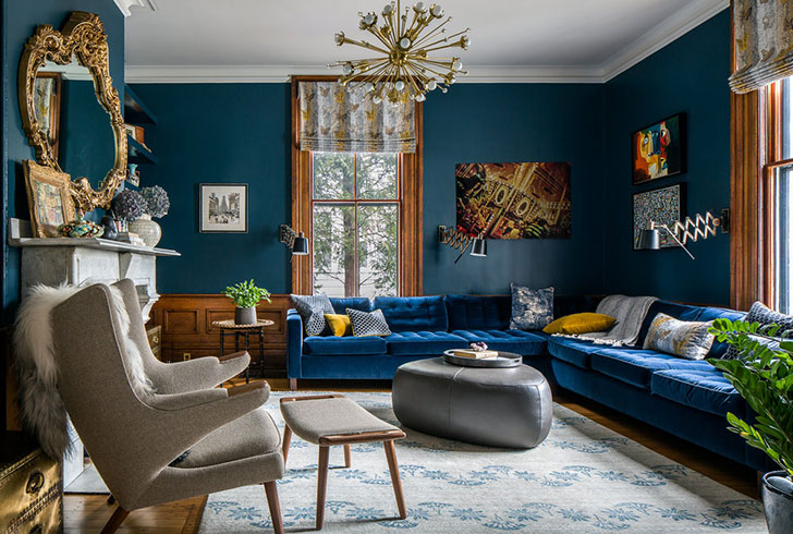 Beautiful eclectic home of a designer in Brooklyn 〛 ◾ Фото .