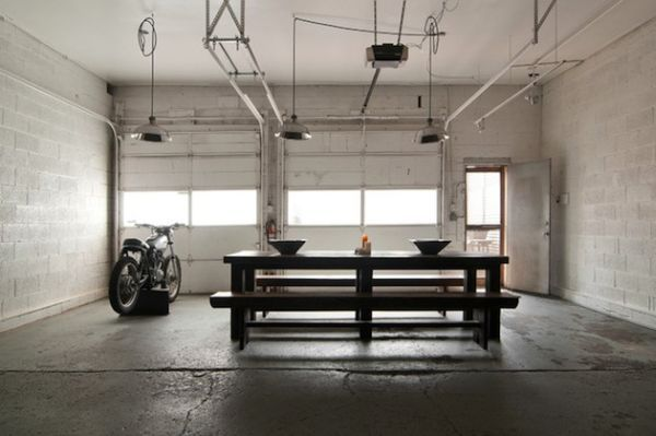From Garage To Industrial Chic Home   Dining room industrial .