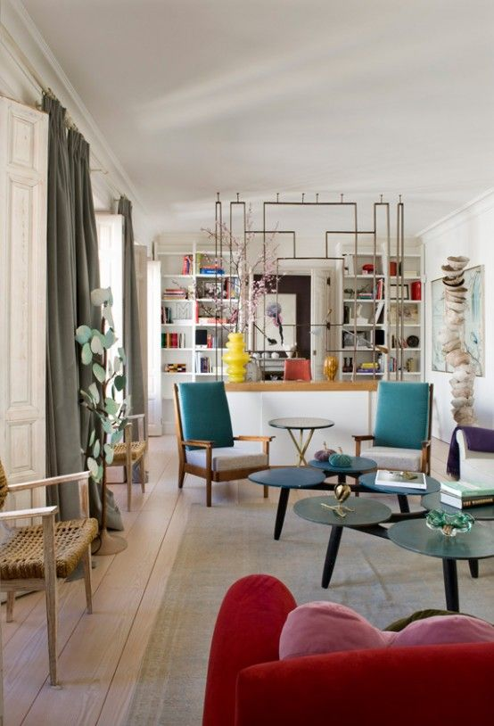 Bold Eclectic Details with Mid-Century Modern Touches....Yes .