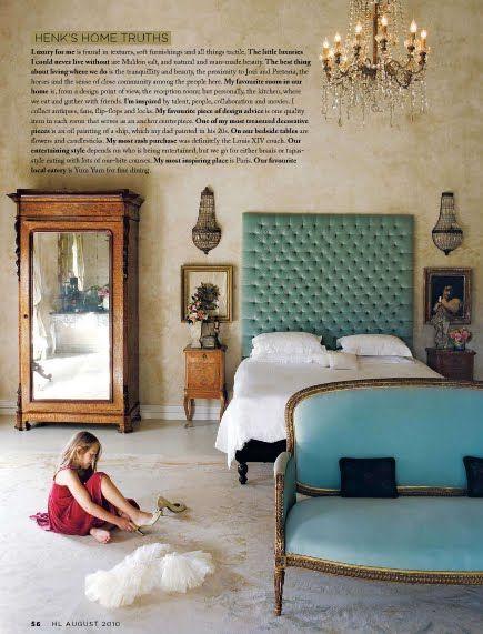 Aqua color inspiration, antique and eclectic interior design .