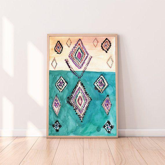 Boho Wall Decor,Abstract Printable Art,Moroccan Decor,Eclectic .