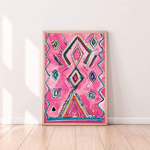 Amazon.com: Eclectic Home Decor,Boho Wall Art Prints, Moroccan Rug .