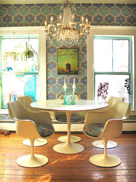 mod dining room | Retro dining rooms, Eclectic decor, Eclectic ho