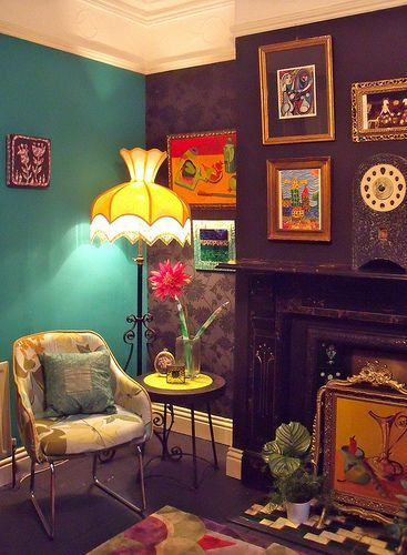 Cabin vibe. Kitsch. | Eclectic home, Sweet home style, Retro home .