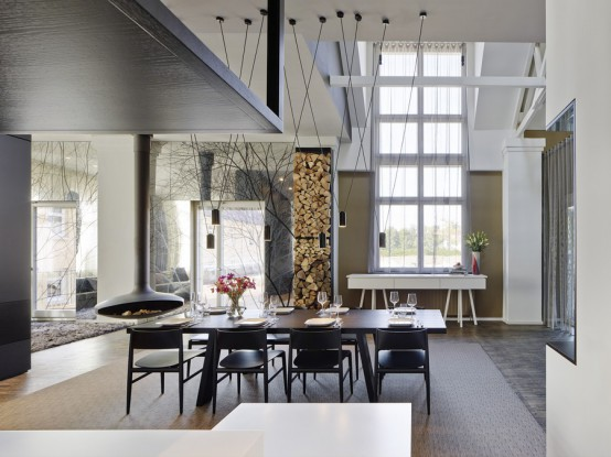 Modern Spacious Loft With Trendy Decor Solutions - DigsDi