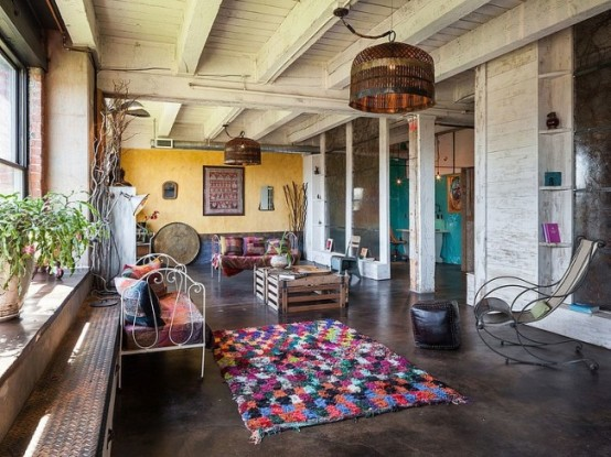 Eclectic Loft In A Crazy Mix Of Styles And Colors - DigsDi