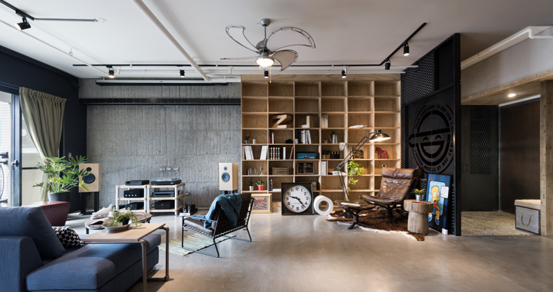 An Eclectic Loft Designed for Cats (and their human