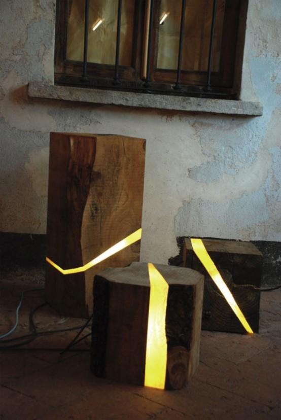 Unique Lamps Of Wooden Wastes Photos 1 (Unique Lamps Of Wooden .