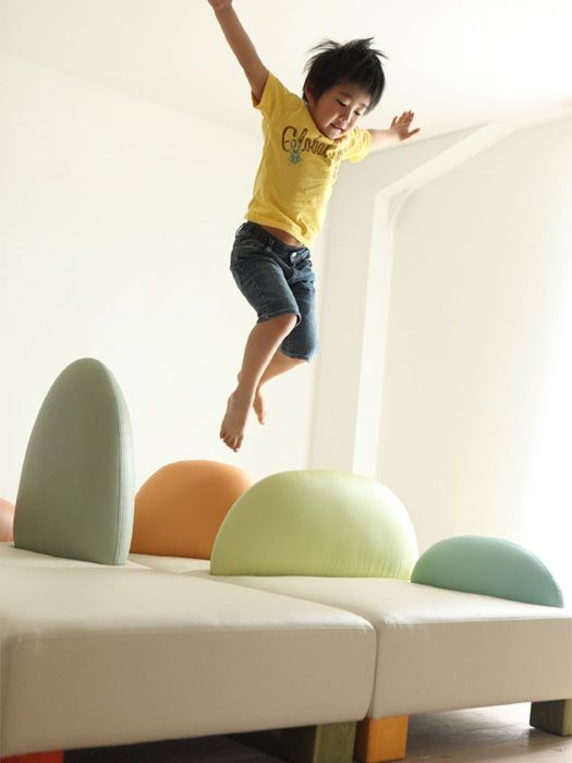 Funny furniture for kids bedroom by Hiromatsu #quepeques .