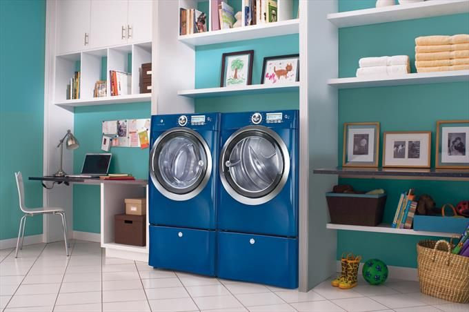 Modern Laundry In Blue Photo by Electrolux - Homeclick Community .