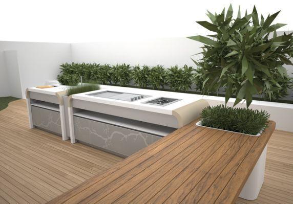 Electrolux Modern Outdoor Kitchen #outdoorkitchencountertops .