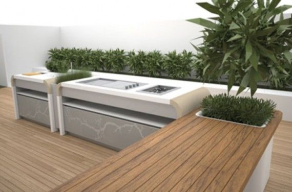 A lovely outdoor cooking area from Electrolux Kitchen - Modern .
