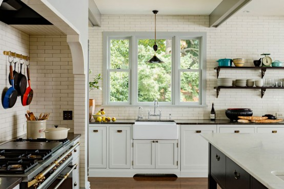Elegant And Cozy Victorian Kitchen And Dining Room - DigsDi