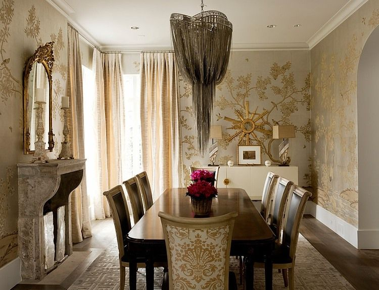 Wilding Residence by Thompson Custom Homes   Elegant dining room .