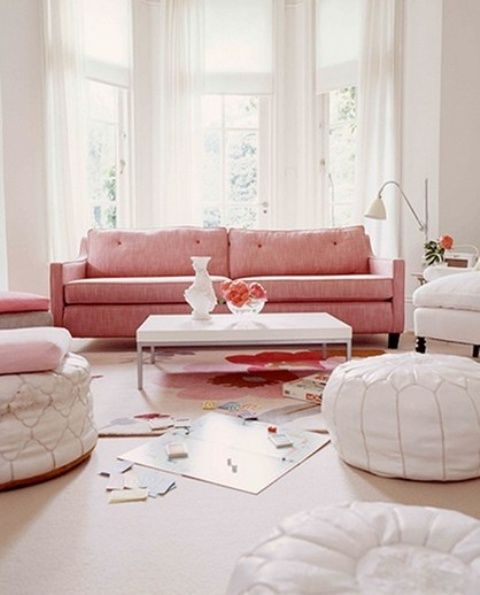 35 Elegant Mid-Century Sofas For Your Interior   Pink couch, Pink .