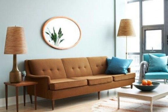 35 Elegant Mid-Century Sofas For Your Interior   Living room color .