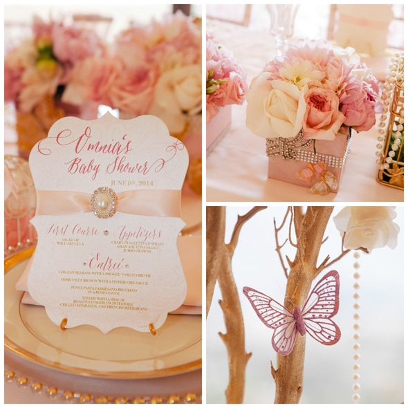 Whimsical Pink and Gold Baby Shower - Pretty My Party - Party Ide